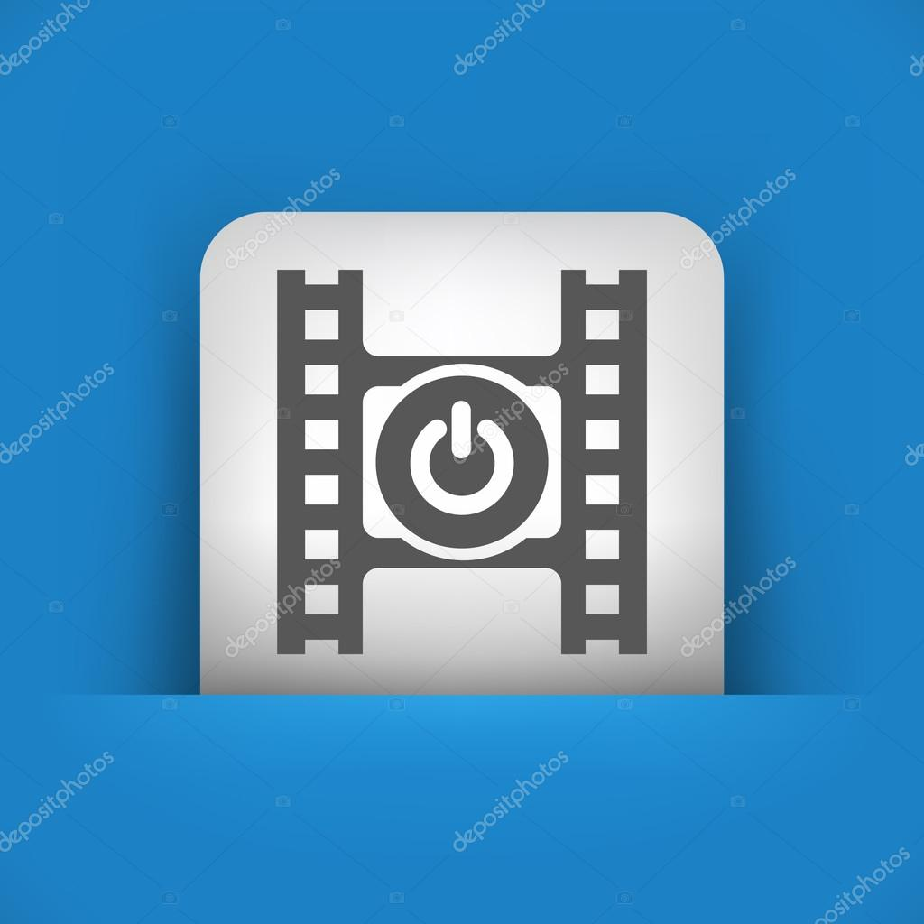 blaue und graue Symbol, die mit ein-/Ausschalter — Stockvektor ...