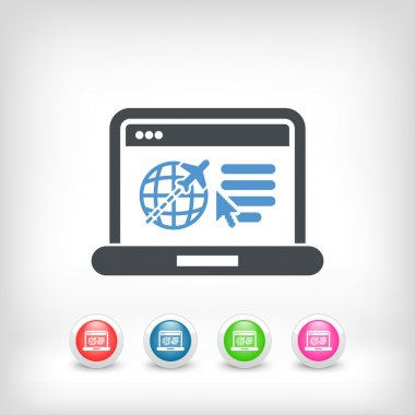 Travel agency website icon