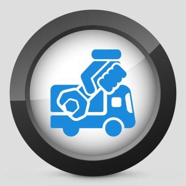Assistance van concept icon