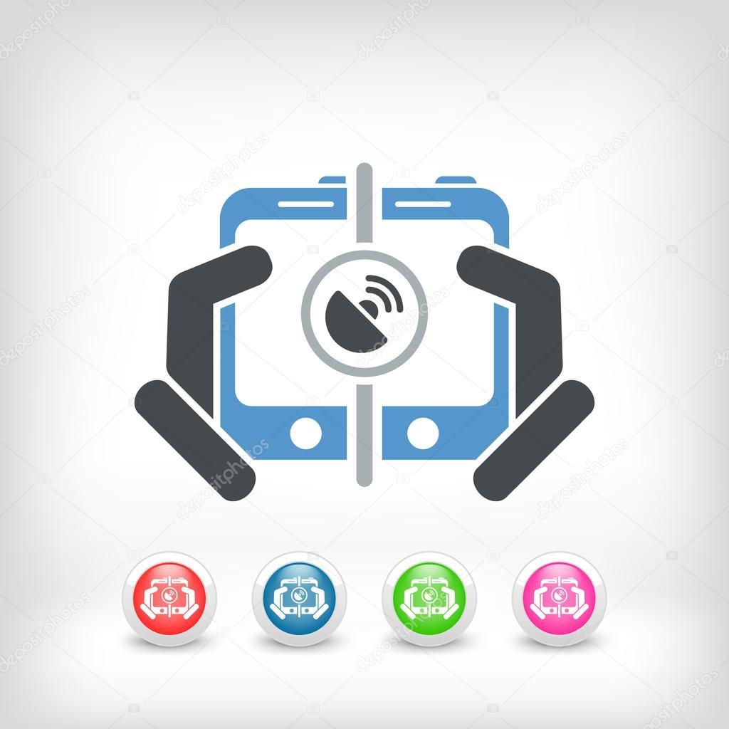 Mobile Verbindungssymbol — Stockvektor © MyVector #33207331