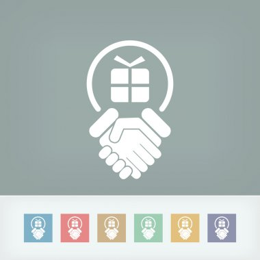 Handshake for gift icon