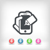 Telefon label ikona