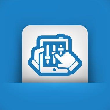 Touchscreen mixer icon