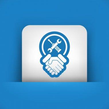 Worker handshake icon
