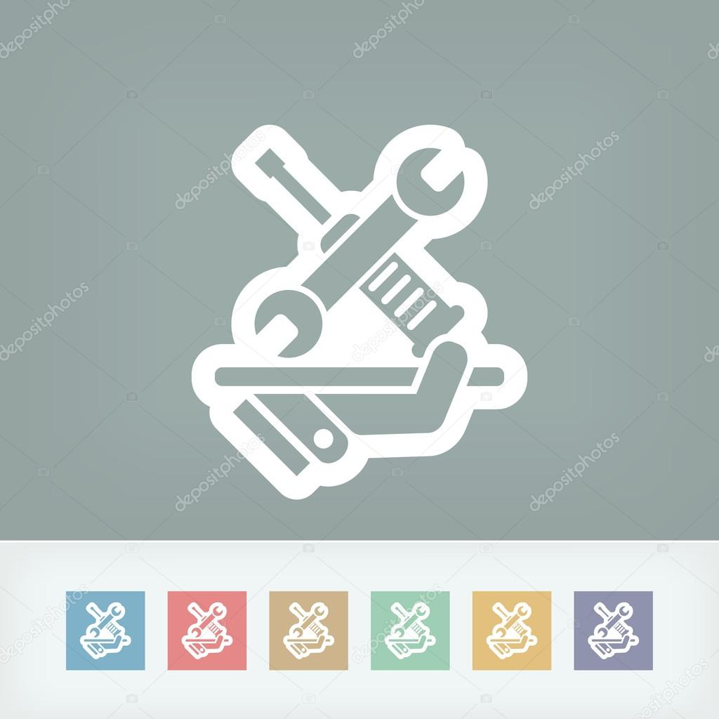 Technical assistance service icon