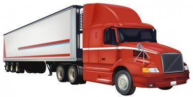 Red Trailer Truck