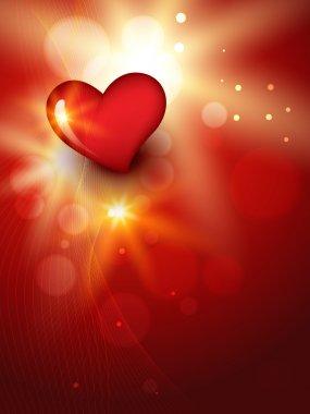 Vector beautiful heart background design clip art vector