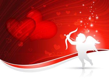 Vector cupid heart background design clip art vector