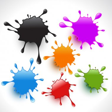 colorful paint splashes set 3