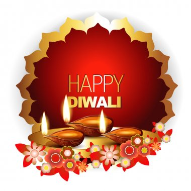 Beautiful happy diwali background with space for your text stock vector