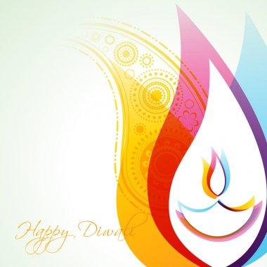 Beautiful creative vector colorful happy diwali background stock vector