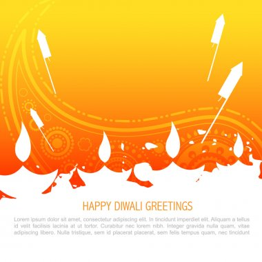 Vector colorful happy diwali background stock vector
