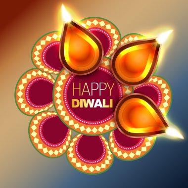 Beautiful happy diwali vector background design stock vector