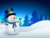 Photo snowman winter background