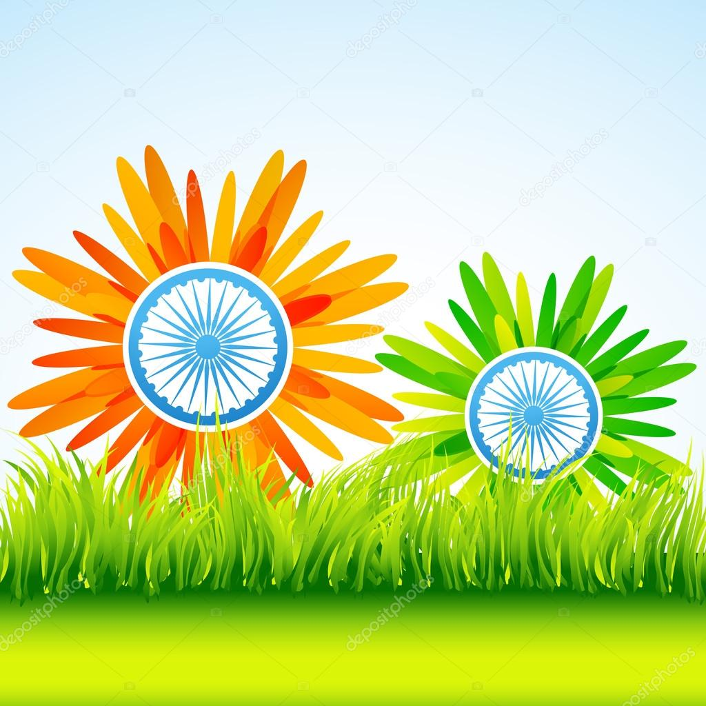 flower indian flag