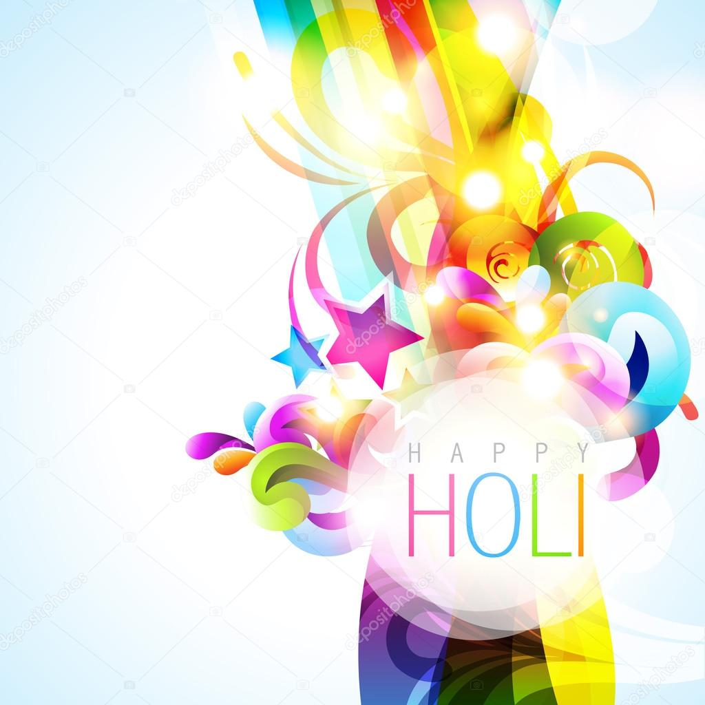 Colorful holi festival vector background stock vector