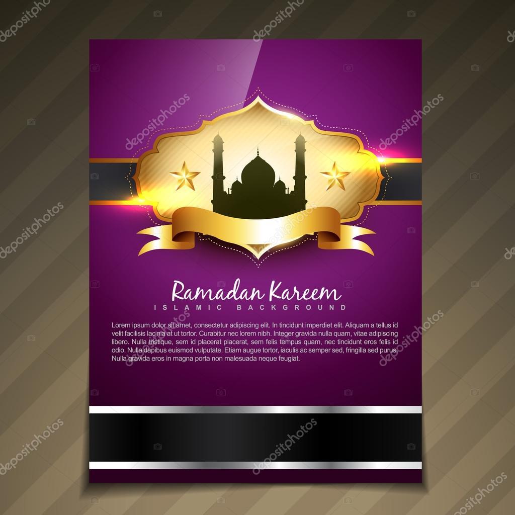 Vektor Ramadan Festival Vorlage — Stockvektor © pinnacleanimate ...