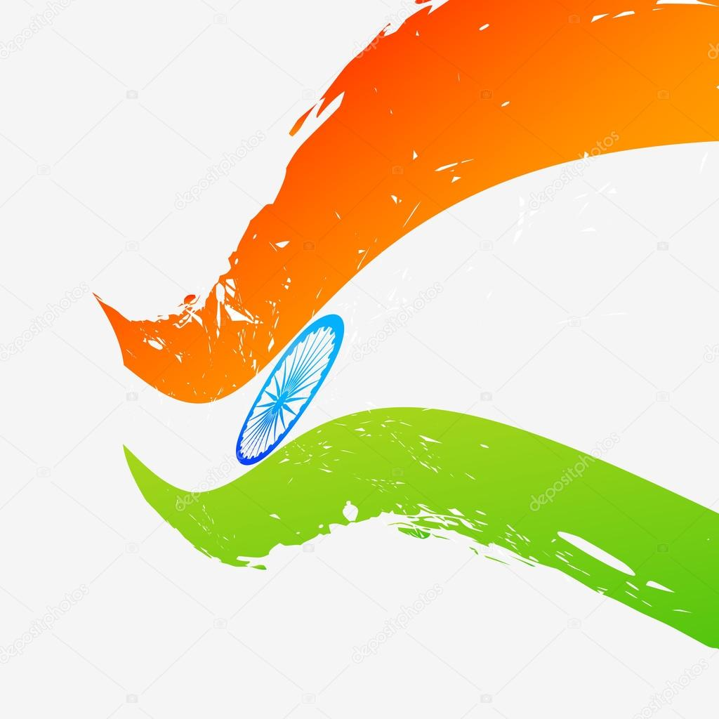 vector flag of india