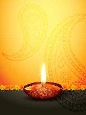Beautiful diwali greeting with space for your text stock vector