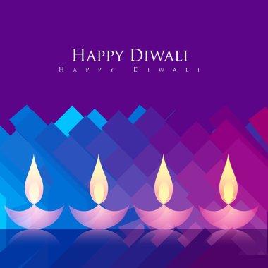Beautiful colorful happy diwali festival greeting stock vector