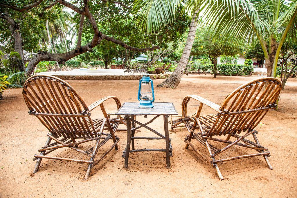 muebles de jardín — Fotos de Stock © perseomedusa #13540033