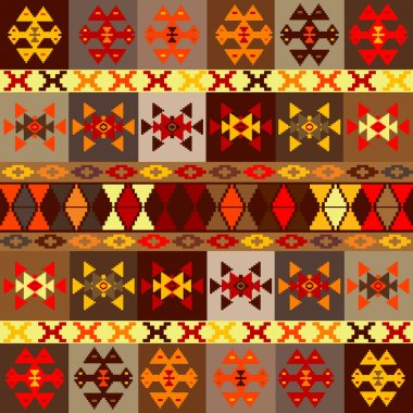 Etnic motifs background, carpet with folk ornaments