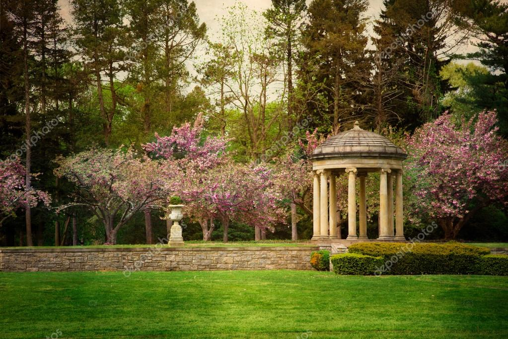 Vintage formal gardens