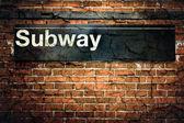 New york city Metro znamení