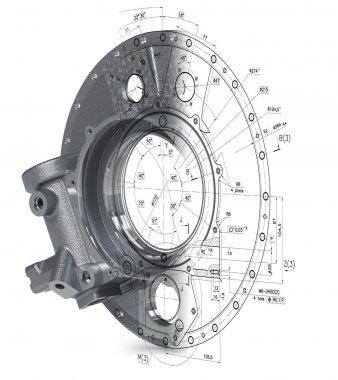 3d model of a defunct industrial parts