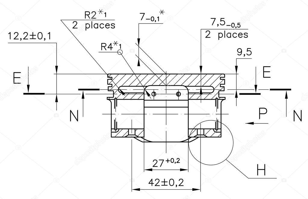 Example of industry document blueprint stock photo sergieiev design drawings of nonexistent internal combustion engine piston clipping path photo by sergieiev malvernweather Gallery