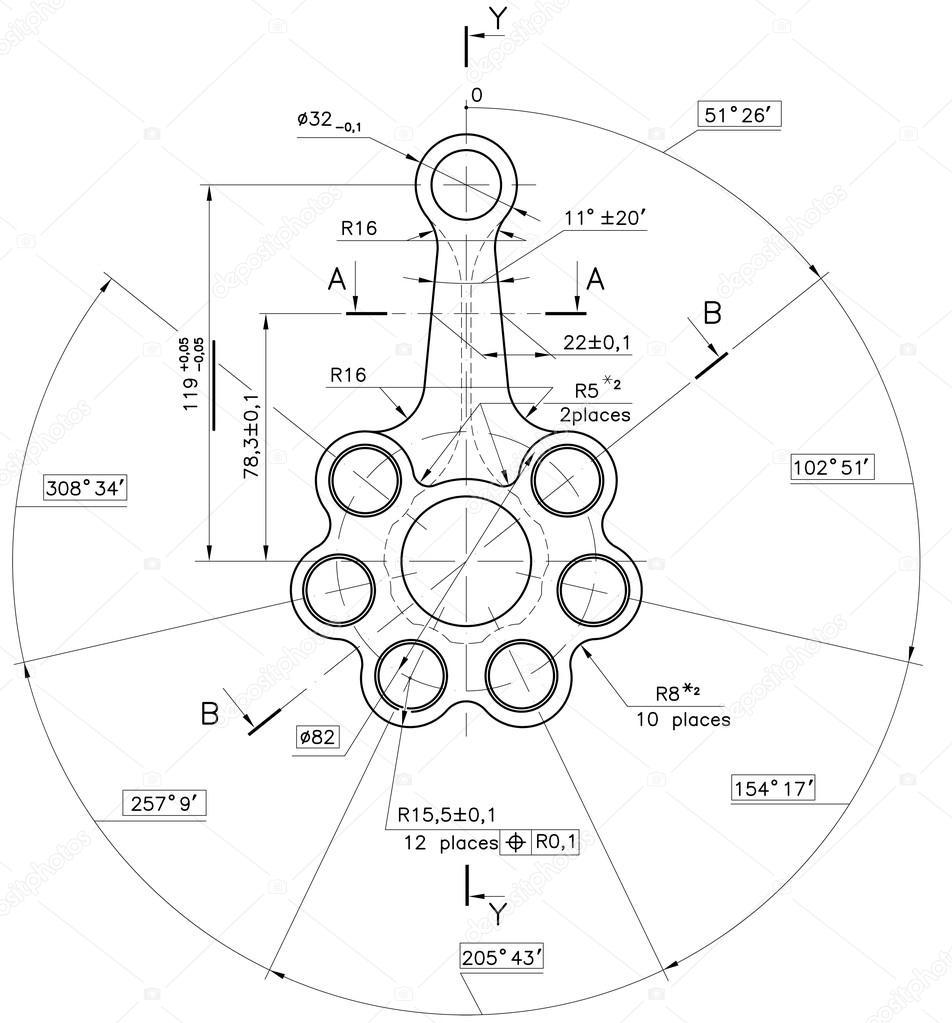 Example of industry document blueprint stock photo sergieiev example of industry document blueprint stock photo 27063503 malvernweather Choice Image