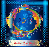 Abstract colorful background.Holiday new years card