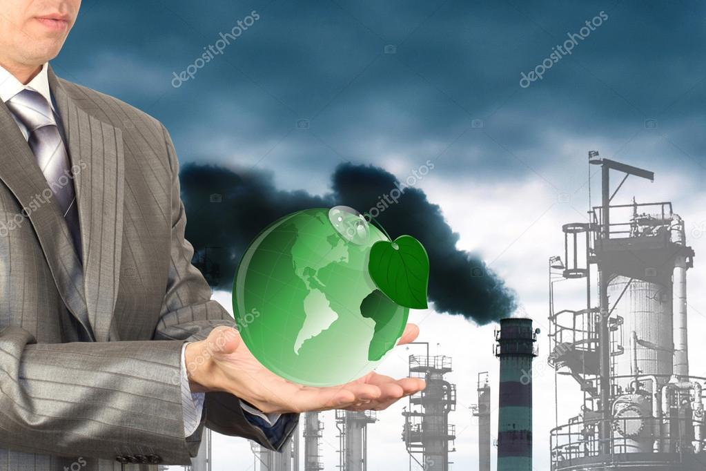 Environmental pollution toxic industrial emissions.Ecology