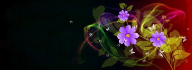 Abstract colorful floral background. Spa