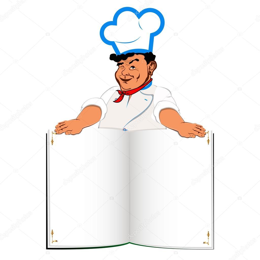 Gurme Komik Aşçı Ve Rehberi Menü Stok Foto Alex150770 21133789
