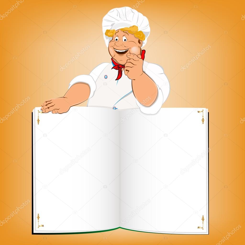 Gurme Komik Aşçı Ve Rehberi Menü Stok Foto Alex150770 21163453