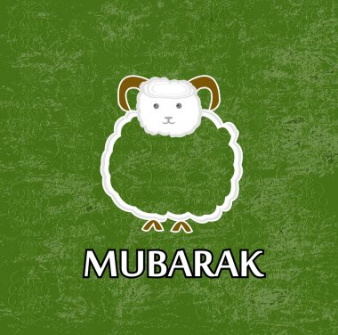 Mubarak.Muslim community festival of sacrifice Eid Ul Adha greeting card.Vector