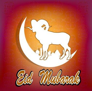 Festival of sacrifice Eid Al Azha or Eid Al Adha.Ramadan Kareem.Vector