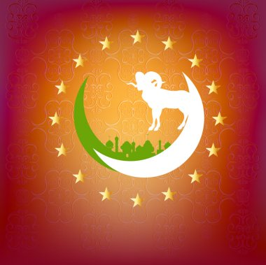 Festival of sacrifice Eid Al Azha or Eid Al Adha.Ramadan Kareem