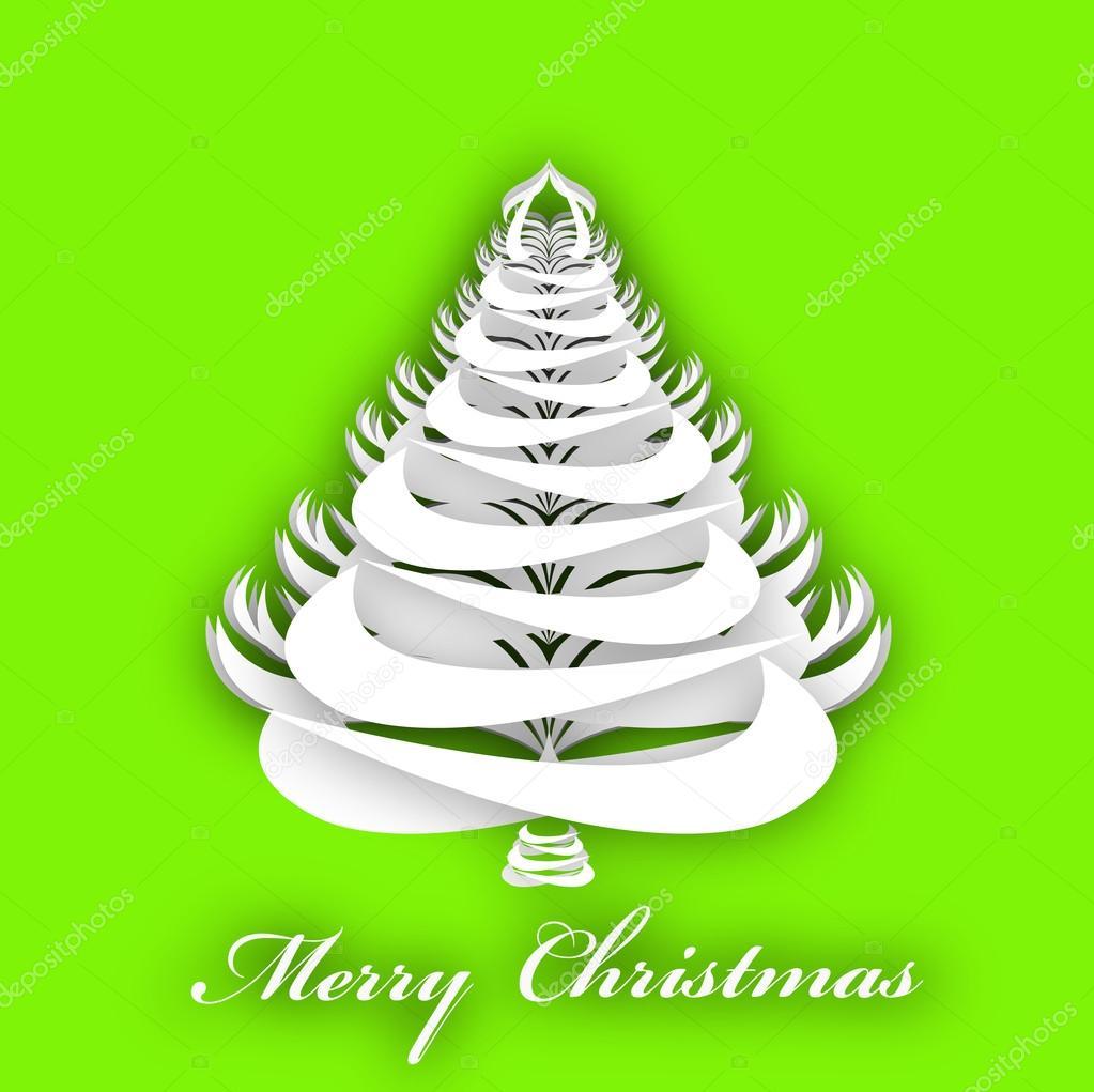 abstrakt Papier Weihnachtsbaum Vorlage eve.background.vector ...