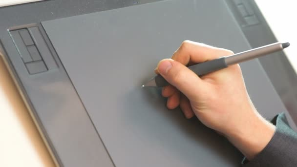 Hand drawing on tablet
