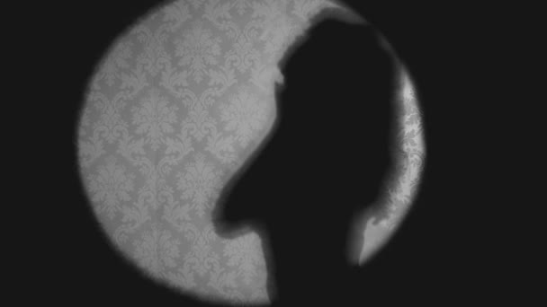 Silhouette of sexy dancing woman in lingerie