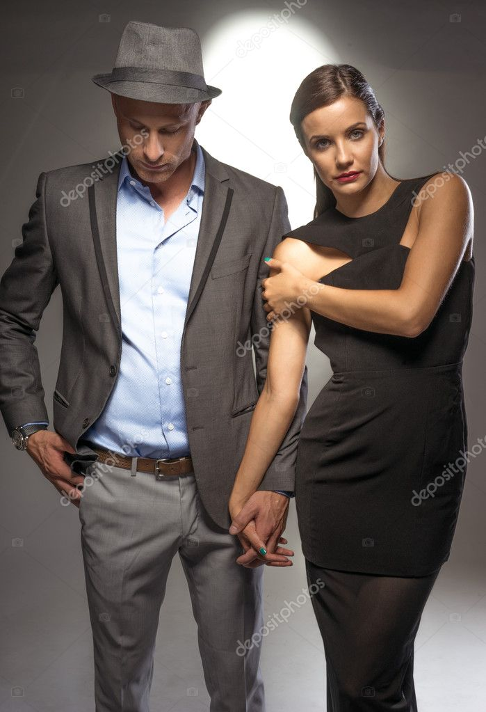 Attractive Sexy Couple On A Romantic Night Out  Stock Photo  Nelka7812 50572193-1469