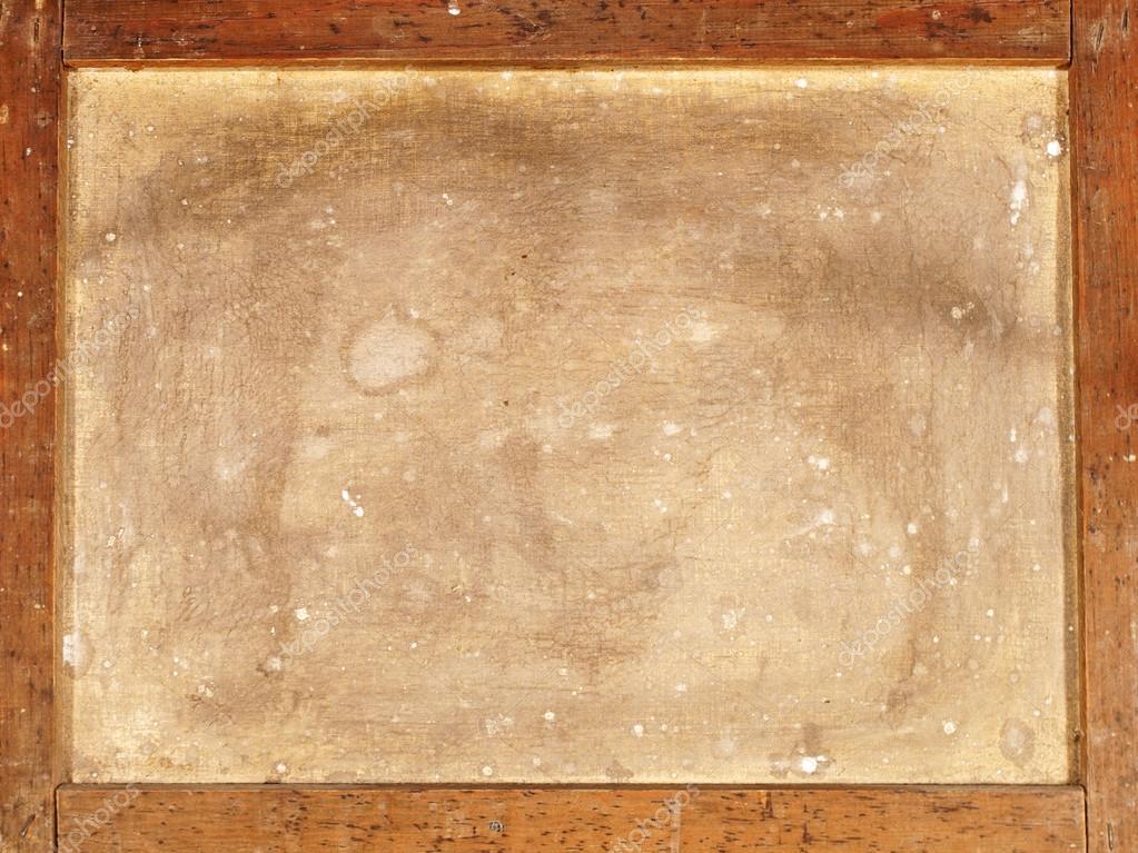 la parte posterior del lienzo viejo en marco de madera — Fotos de ...