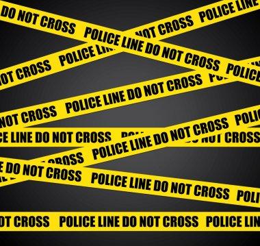 Police line. Do not cross. Vector crime scene background.
