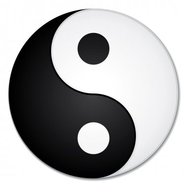 Yin Yang symbol. Beautiful zen or yoga vector icon.