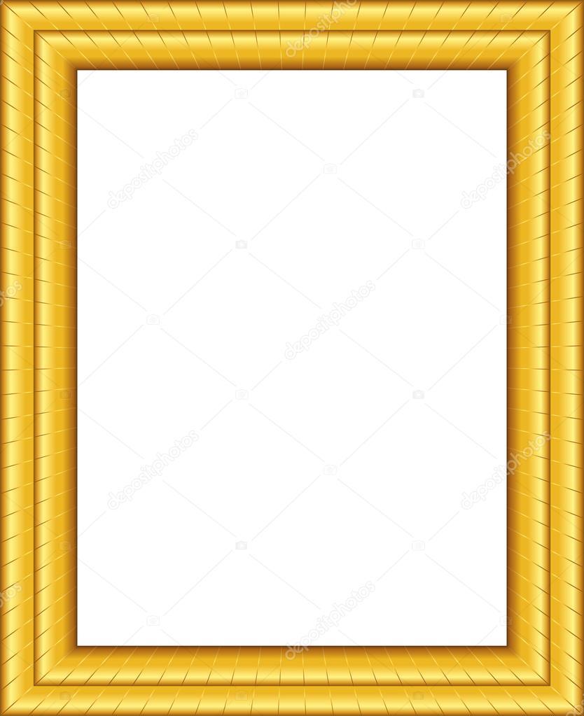 Beautiful golden framework. Vector picture frame. - Vector by Albachiaraa