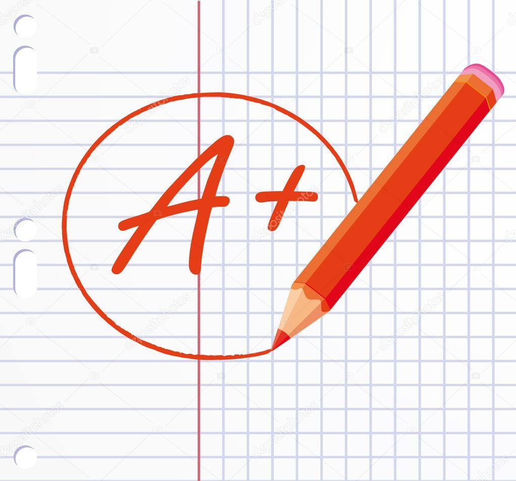 A+ school vote — Stock Vector © Albachiaraa #12048162