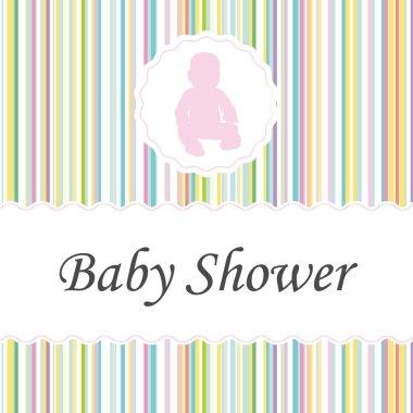 Baby shower invitation. Girl version.