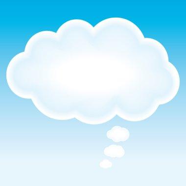 Beautiful cloud think bubble. Marketing background.